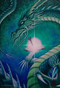 《龍吟》 アクリル画 タムラゲン 田村元 画家 SUNABAギャラリー Gen Tamura painter