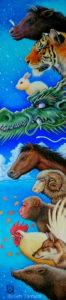《十二支節気》 アクリル画 タムラゲン ( タムラ・ゲン ) 田村元 ゲンさん 画家 SUNABAギャラリー Gen Tamura painter artist