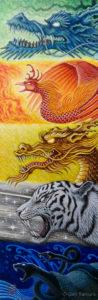 《五行鳴動》 アクリル画 タムラゲン 田村元 ゲンさん 画家 SUNABAギャラリー Gen Tamura painter