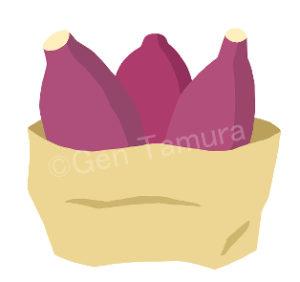 袋入りの焼き芋 ストックイラスト PIXTA