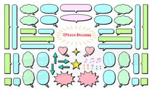 Collection of speech balloon icons (Adobe Stock) Illustration by Gen Tamura
