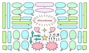 Speech balloon icons (iStock) Illustration by Gen Tamura
